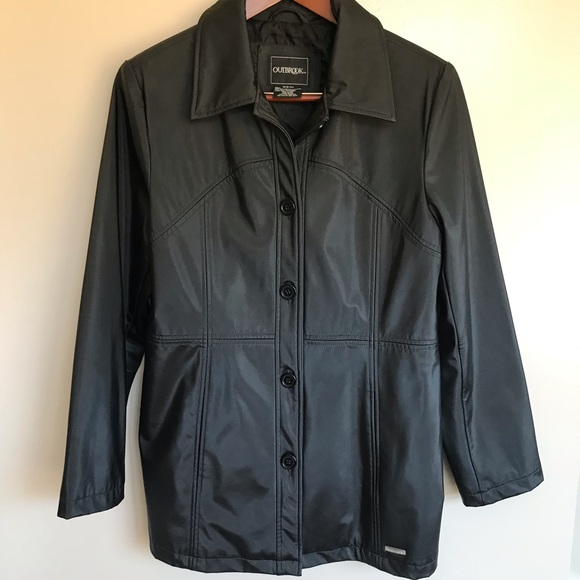 Outbrook Jackets & Blazers - Black trench coat.